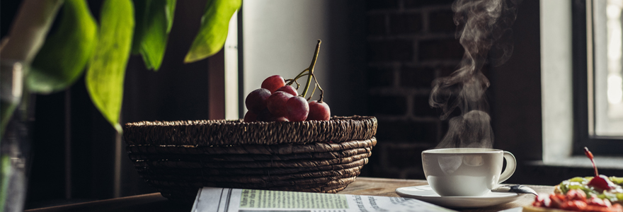 Corbeilles de fruits au bureau